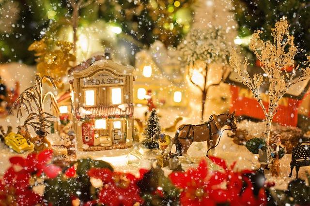 クリスマスの街の風景