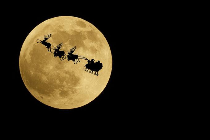 サンタクロース 満月 月