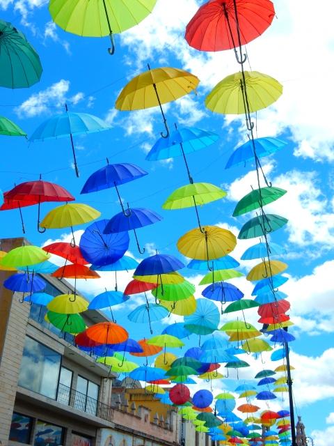 カラフルな傘 パラソル
