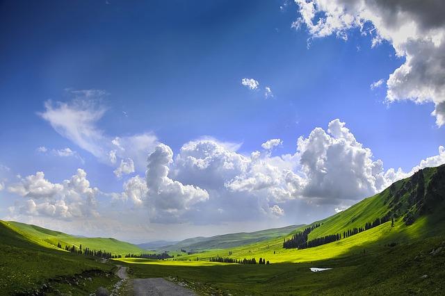 山あいの風景