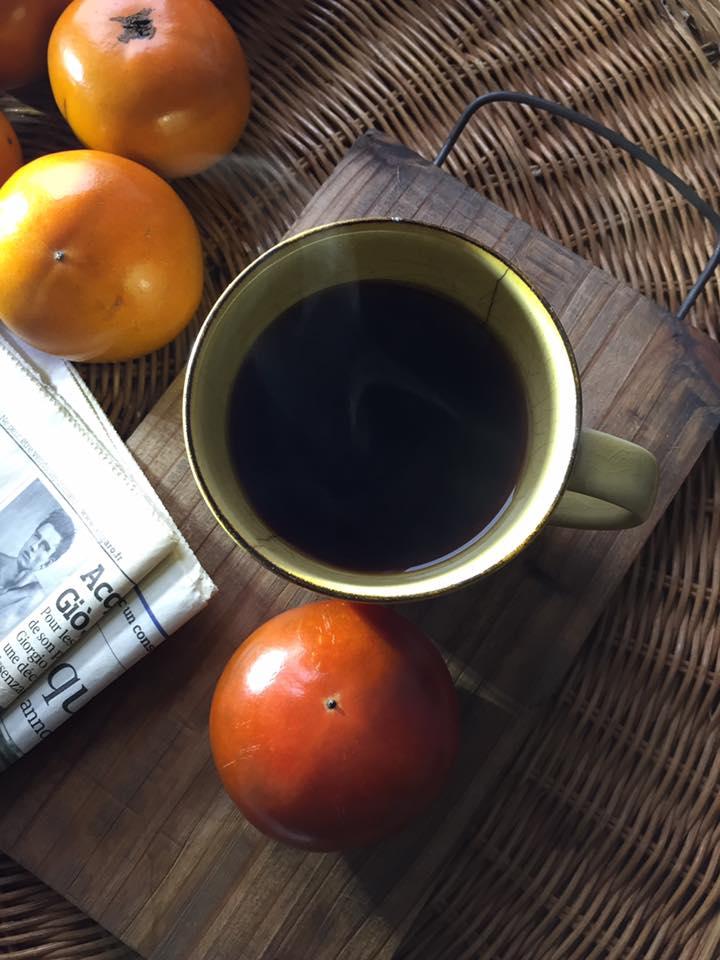 コーヒー 柿