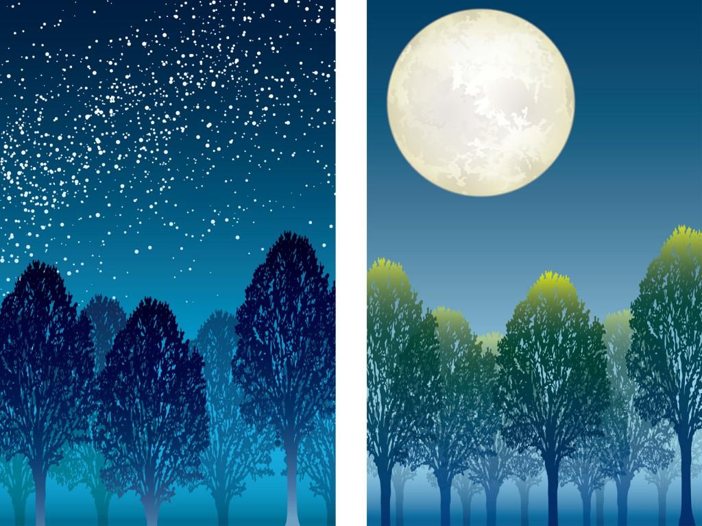 秋の夜空 秋晴れ 月見み 気候